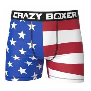 Other - CRAZY BOXER American Flag Print Boxer Briefs